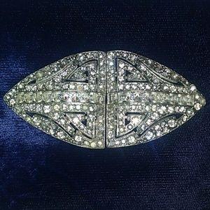 VINTAGE Art Deco Rhinestone Dress Scarf Shoe Clip